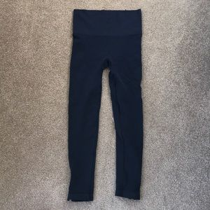 Spanx zipper ankle leggings in Navy